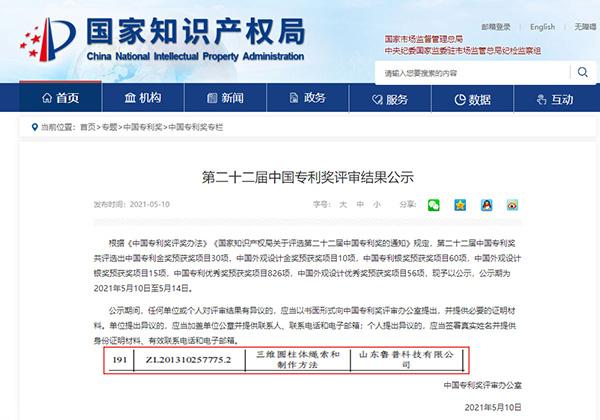 再添彩!鲁普耐特集团荣获第二十二届中国专利优秀奖